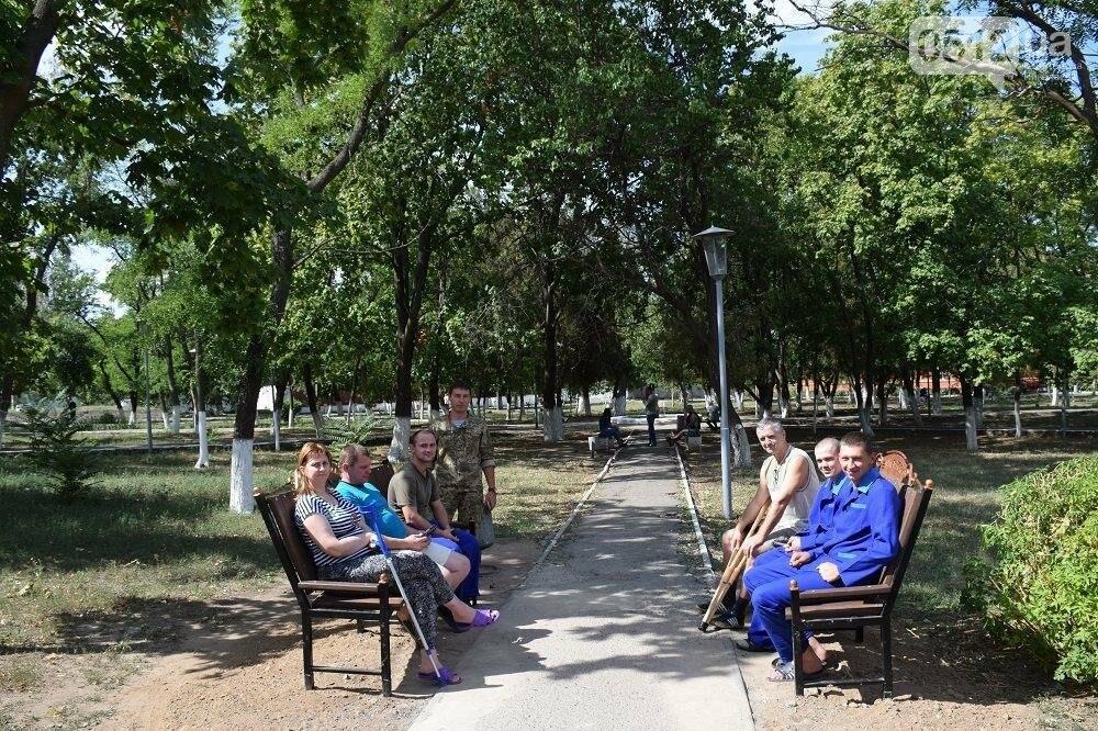 Меценаты оказали помощь Николаевскому военному госпиталю и облагородили зону отдыха, фото-7