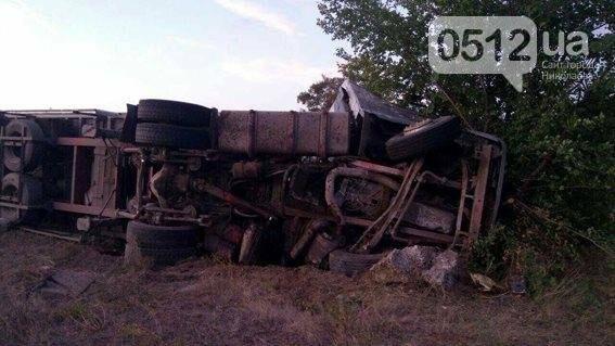 На Николаевщине разбился насмерть водитель грузовика - машина въехала в дерево, - ФОТО, фото-2