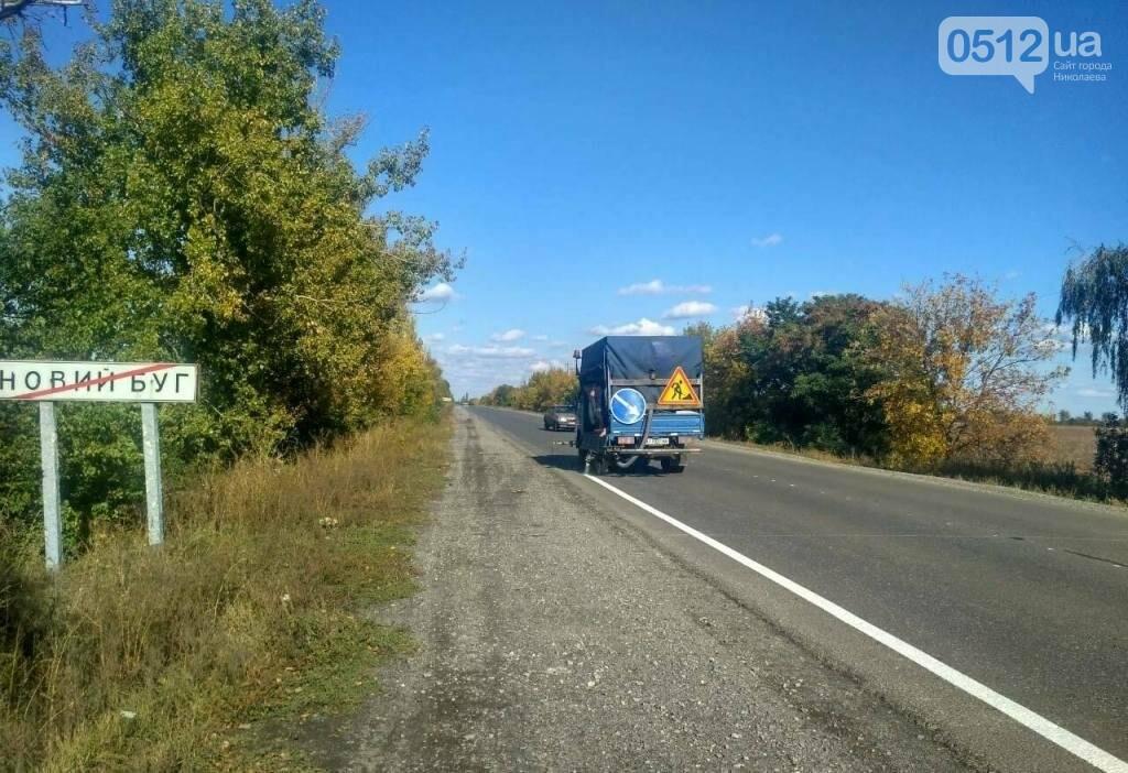 Дорожники нанесли разметку и установили знаки на трассе Н-11 Днепр - Николаев, - ФОТО, фото-5