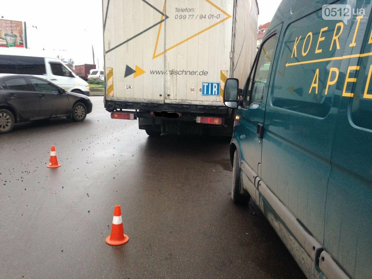 "В Николаеве на Пушкинском кольце ""Mitsubishi Lancer"" врезался в грузовик, ФОТО, фото-5"