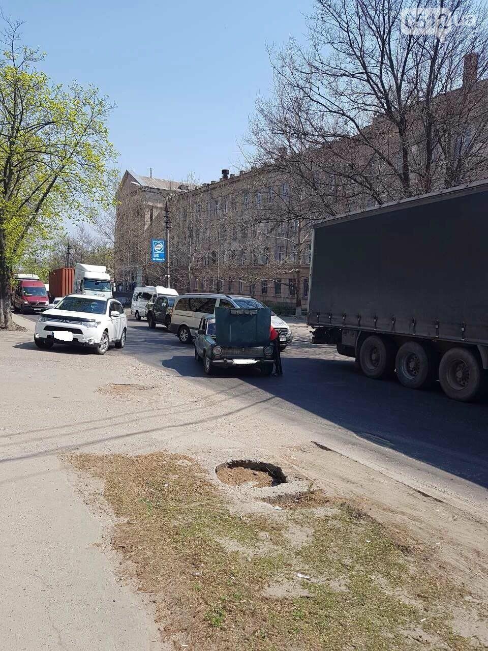 В Николаеве сломавшийся «Жигуль» создал пробку, - ФОТО, фото-4