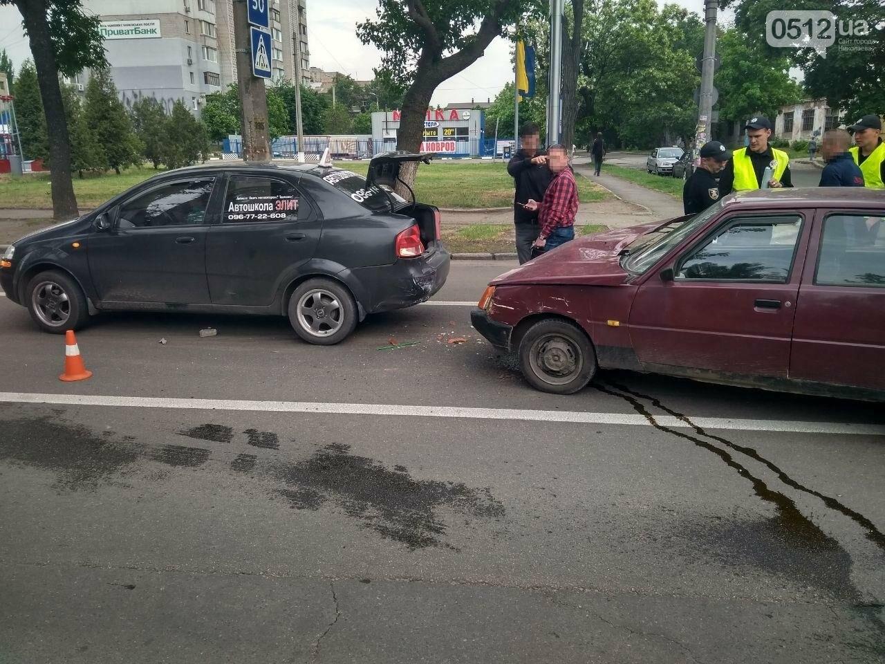 В центре Николаева произошла авария с участием автомобиля автошколы, - ФОТО, фото-5