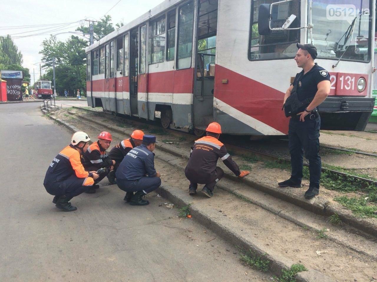 В Николаеве трамвай переехал мужчину, - ФОТО, ВИДЕО 18+, фото-1