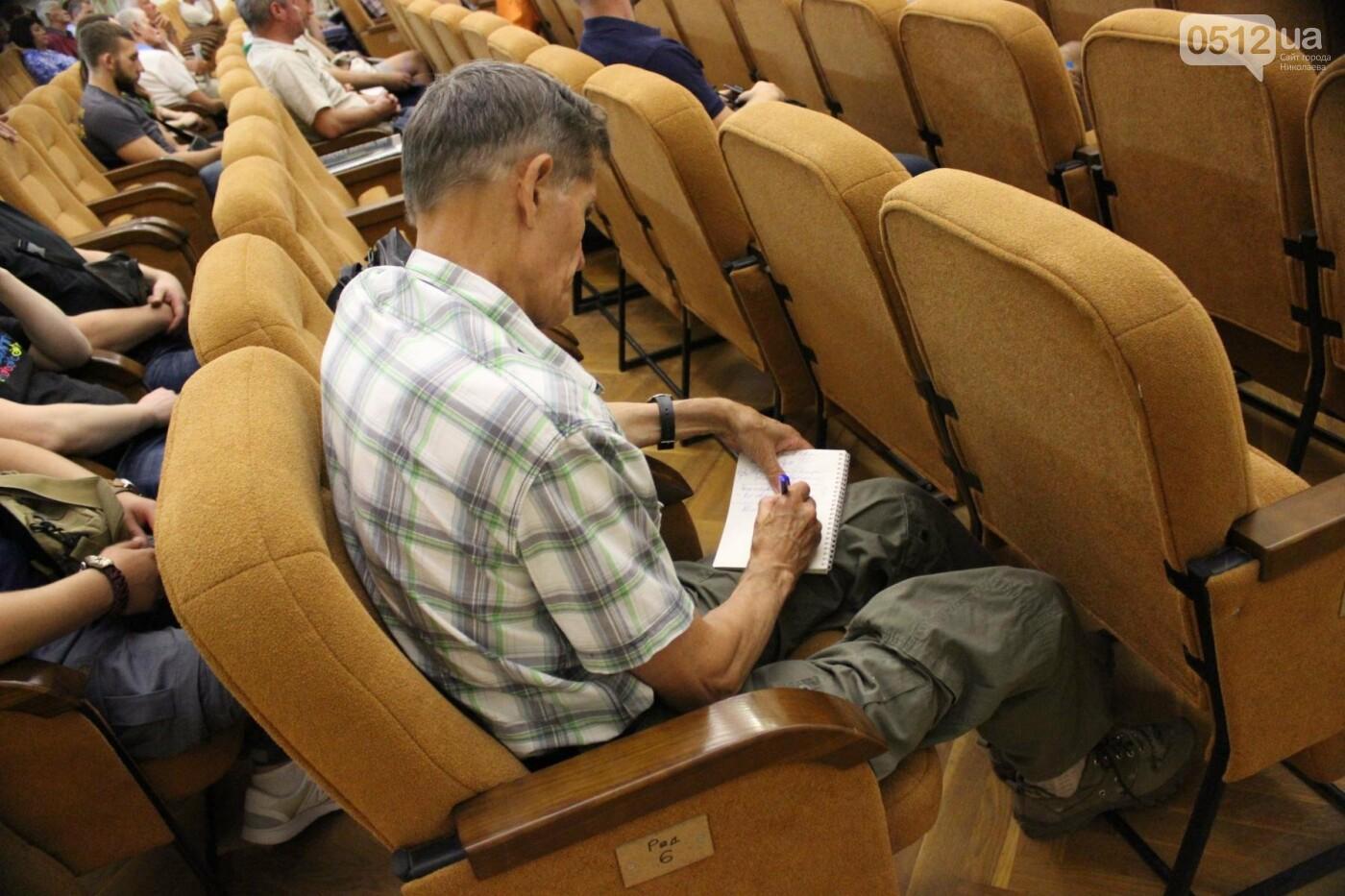 "В Николаеве глава ""Нацкорпуса"" выступил в зале с коммунистическими звездами, - ФОТО, ВИДЕО , фото-11"