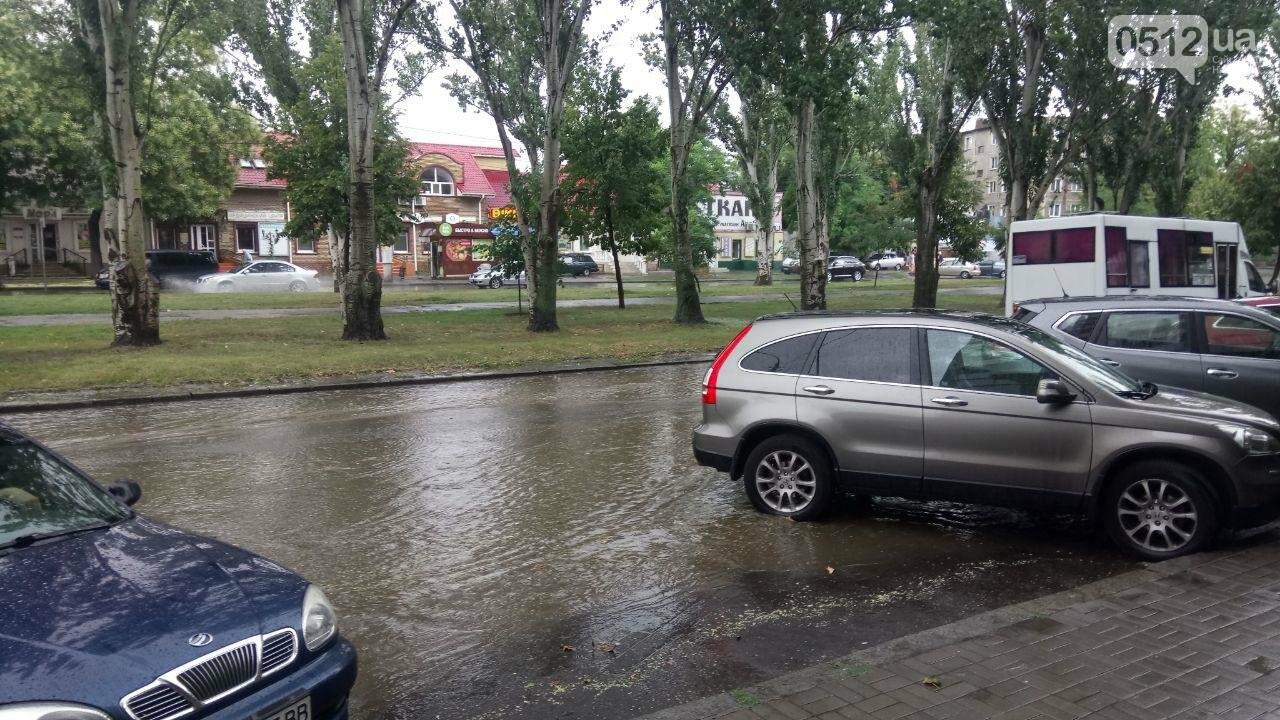 В Николаеве затопило проспект, - ФОТО, ВИДЕО , фото-4