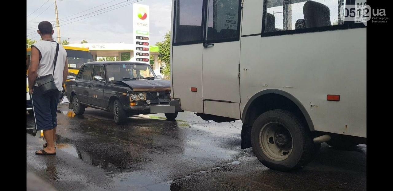 Аварийный ливень: в Николаеве в дождь произошло ДТП с участием маршрутки, - ФОТО, фото-2