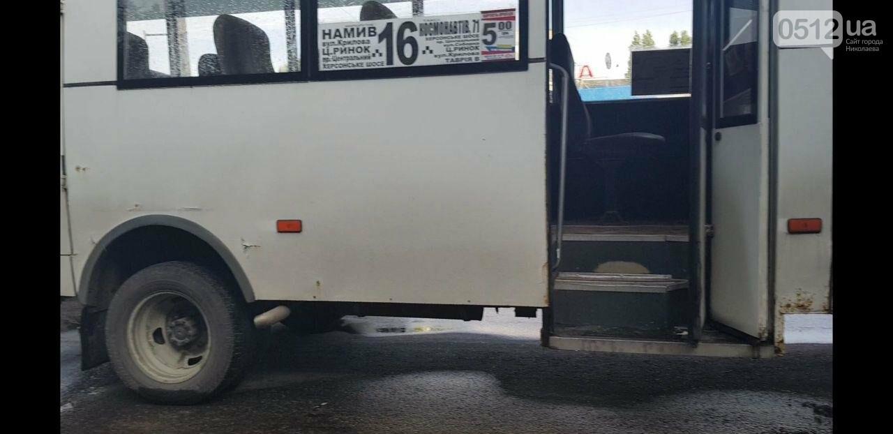 Аварийный ливень: в Николаеве в дождь произошло ДТП с участием маршрутки, - ФОТО, фото-1