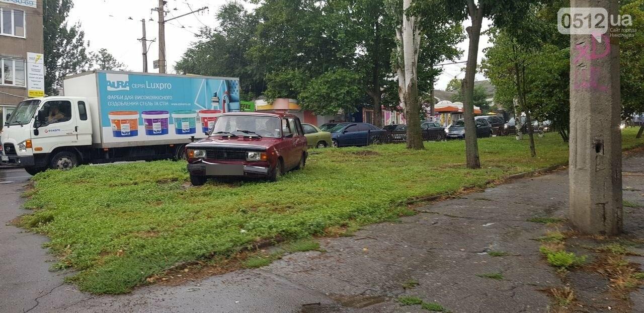 В Николаеве ВАЗ снёс ограждение и вылетел на газон, - ФОТО, ВИДЕО, фото-3