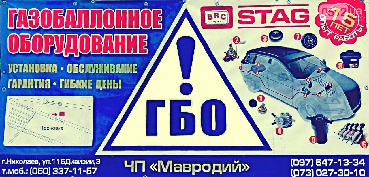 ФОП Мавродий ЮС: установка ГБО в Николаеве