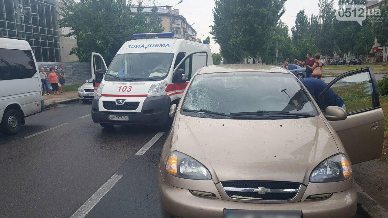 В центре Николаева Chevrolet сбил пешехода - пострадавшего госпитализировали, - ФОТО, ВИДЕО, фото-2