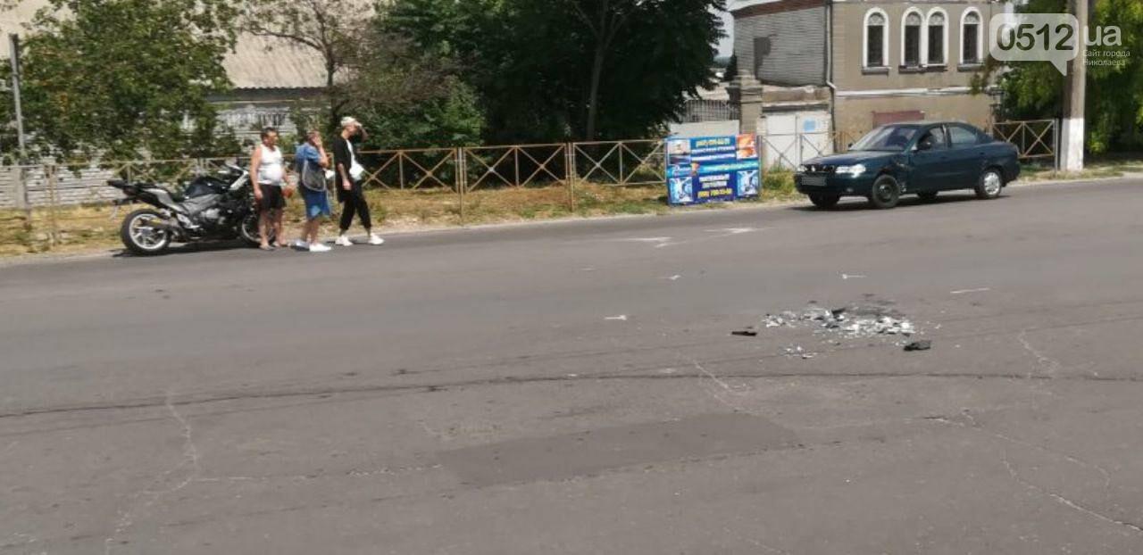 """В Николаеве напротив """"Эпицентра"""" мотоциклист влетел в Daewoo, - ФОТО, фото-3"""