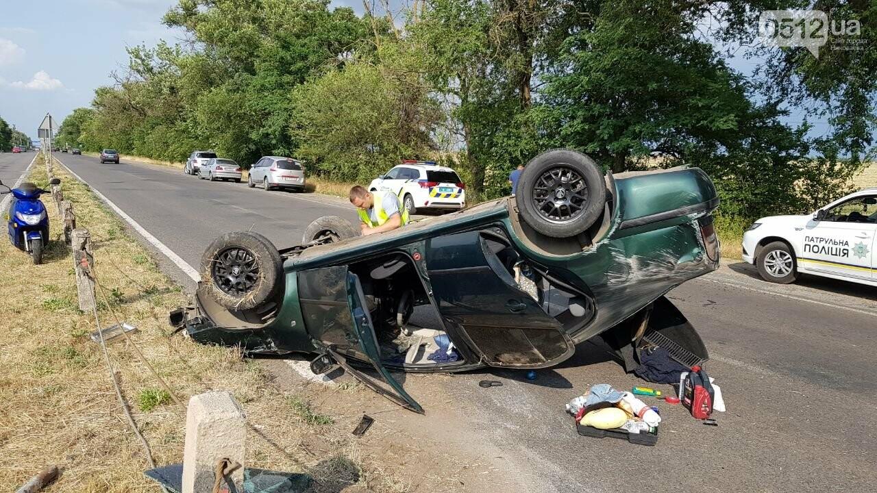 Под Николаевом перевернулась иномарка - водитель утверждает, что её подрезали, - ФОТО, ВИДЕО, фото-4