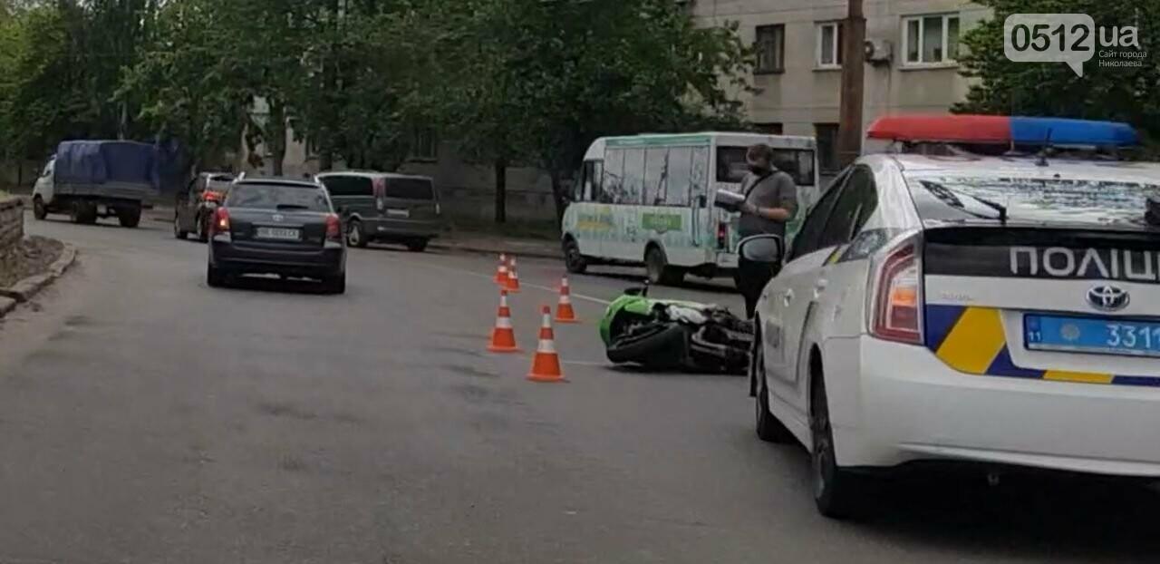 В Николаеве столкнулись иномарка и мотоцикл: есть пострадавшие, - ФОТО, фото-2