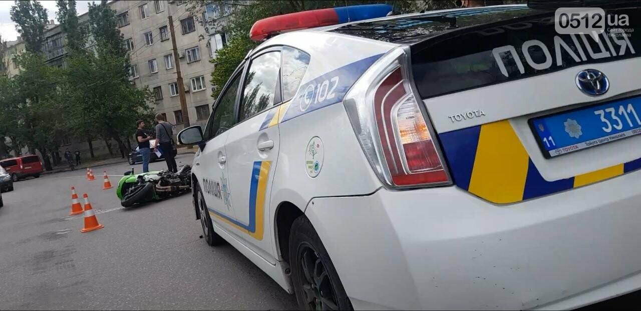 В Николаеве столкнулись иномарка и мотоцикл: есть пострадавшие, - ФОТО, фото-3