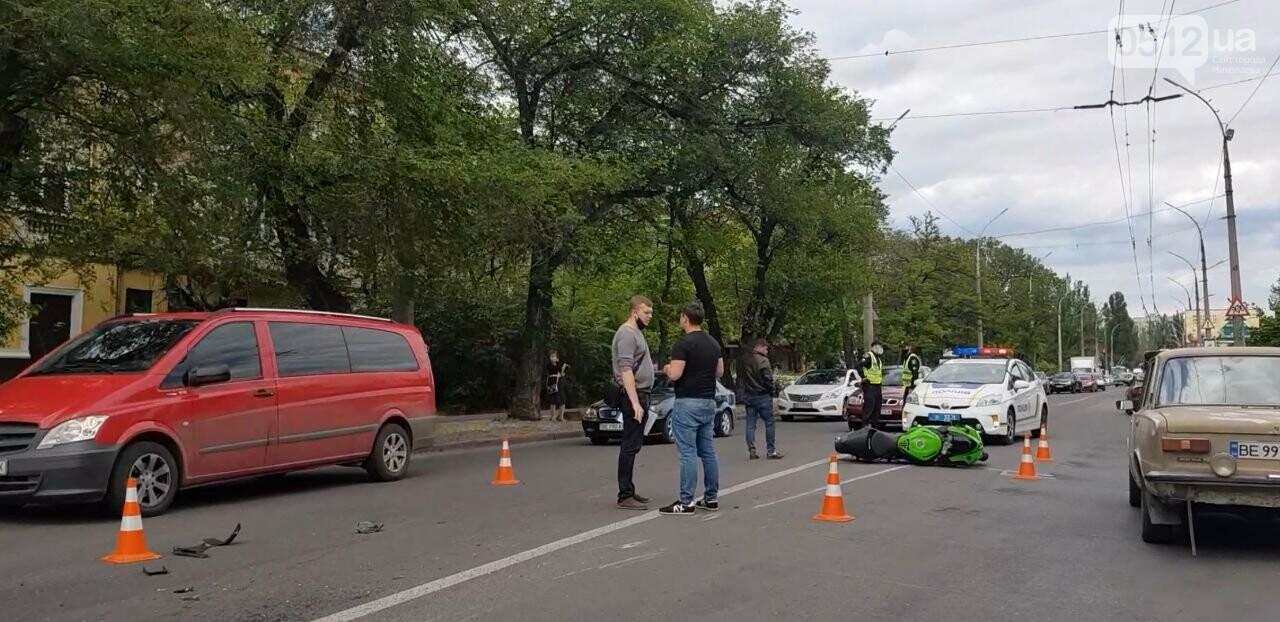 В Николаеве столкнулись иномарка и мотоцикл: есть пострадавшие, - ФОТО, фото-1