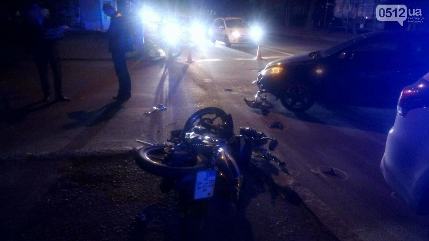 В Николаеве мотоциклист врезался в иномарку, - ФОТО, фото-1