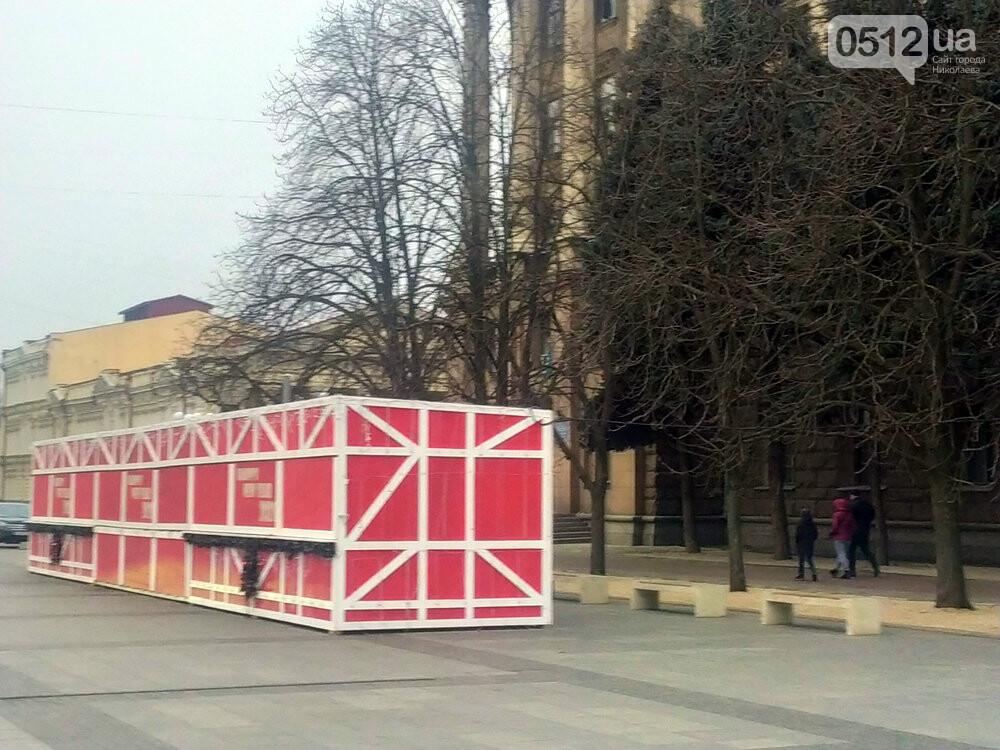"""Карантин зимних каникул"": на главной площади Николаева собирают аттракционы и не работает ярмарка, - ФОТО, фото-7"