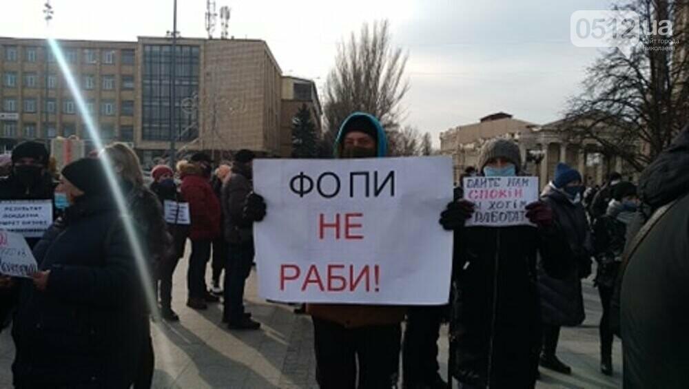 В Николаеве предприниматели вышли на митинг: требуют разрешения работать в период локдауна ,- ФОТО , фото-1