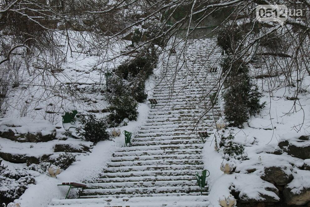 В Николаеве выпал снег