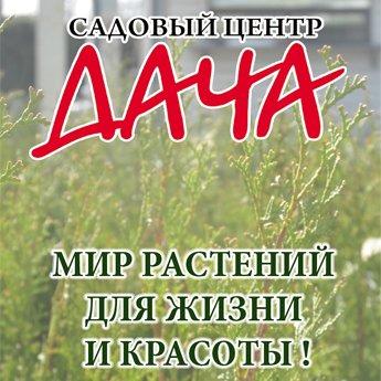 Логотип - Садовый центр Дача, ТМ Флора Стиль - фонтаны, садово-парковая скульптура в Николаеве