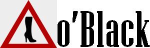 Логотип - o'Black  индивидуальный пошив эксклюзивной обуви