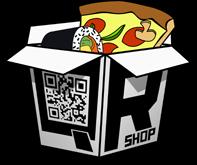 Логотип - QR SHOP Доставка пиццы, Доставка суши в Николаеве