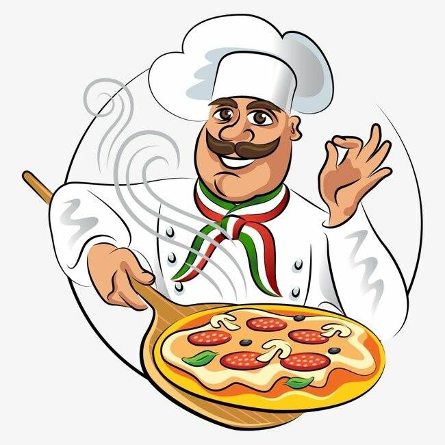Картинки с поварами и едой, открытки