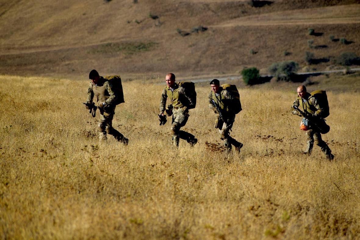 Николаевские морские пехотинцы на учениях в Грузии десантировались с АН-26 (ФОТО), фото-10