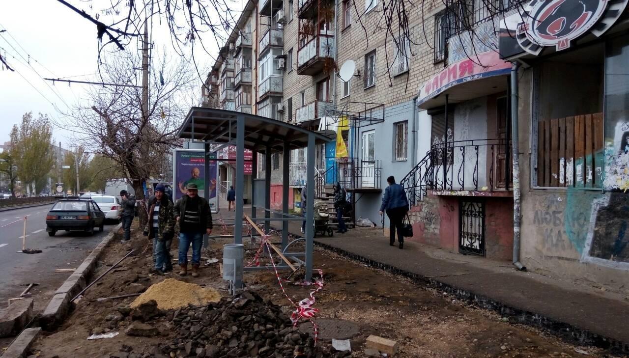 В Николаеве проводят капитальный ремонт остановок общественного транспорта, фото-3