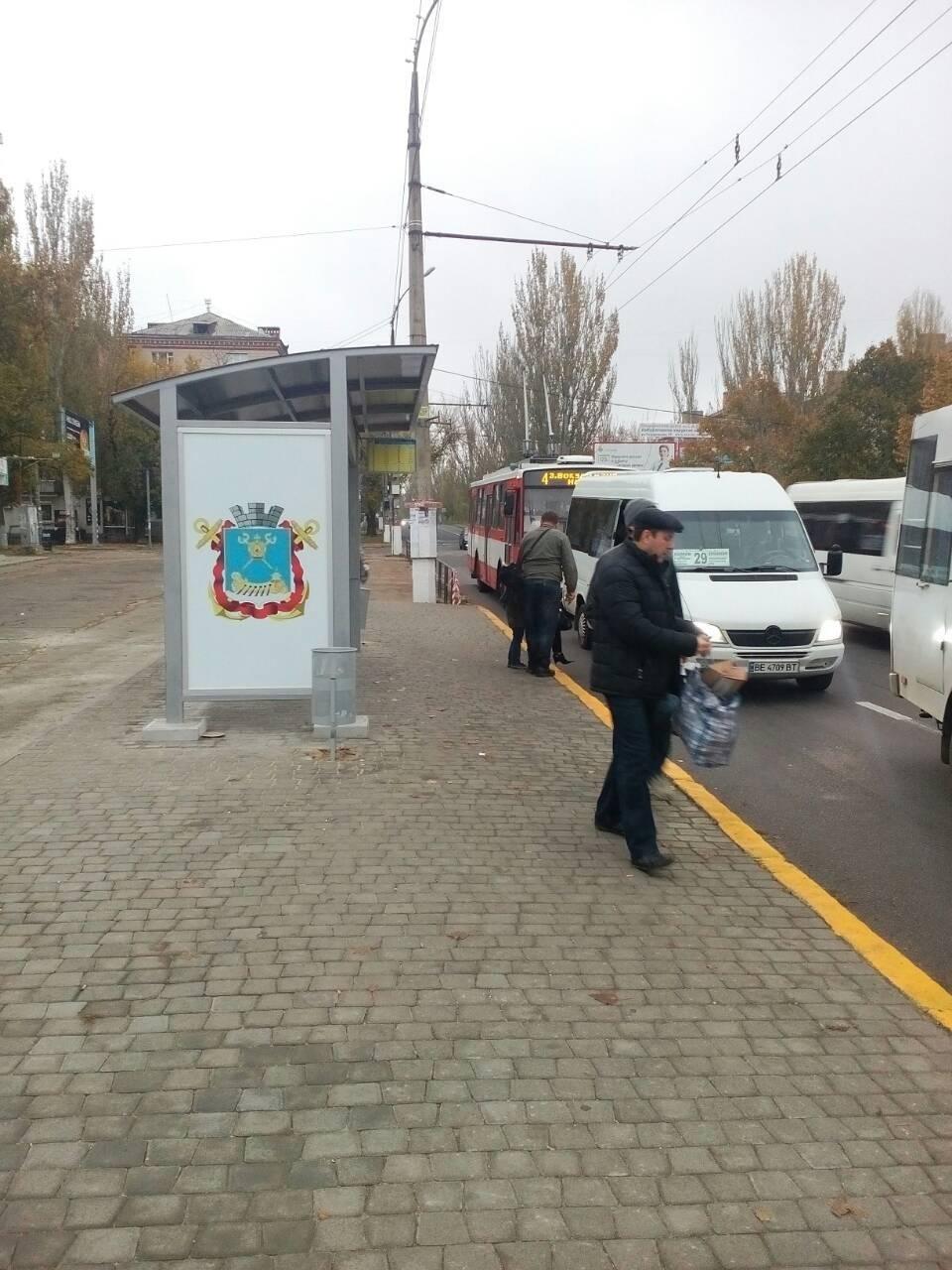В Николаеве проводят капитальный ремонт остановок общественного транспорта, фото-1