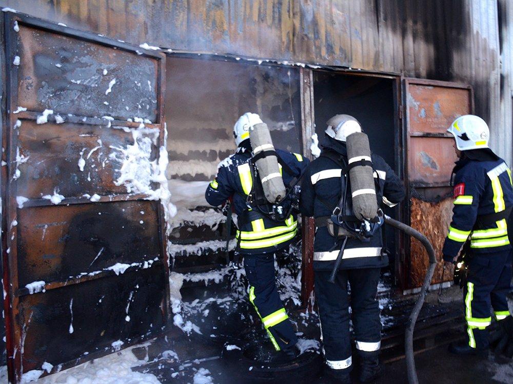 В Николаеве спасатели тушили масштабный пожар в помещении шиномонтажа, - ФОТО, фото-3
