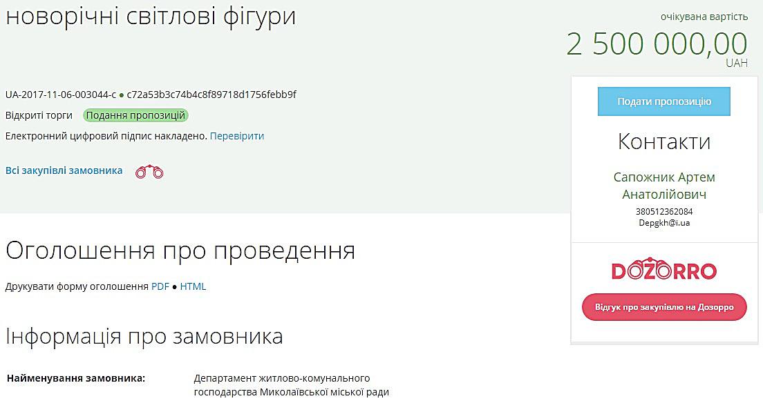 Мэрия Николаева потратит 2,5 млн грн на новогоднюю иллюминацию , фото-3