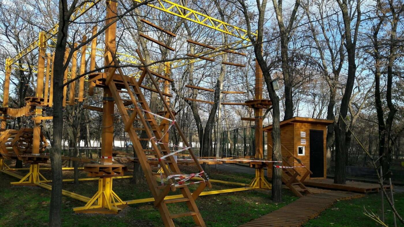 В Николаевском зоопарке обустраивают веревочный парк - его планируют открыть весной, - ФОТО, фото-1