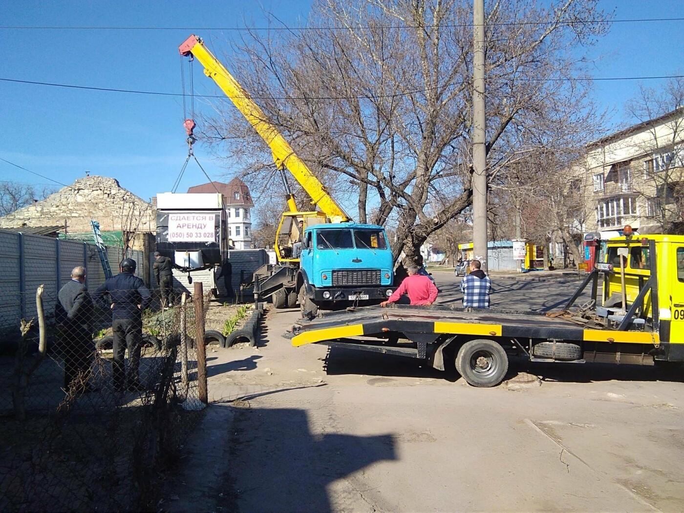В Николаеве демонтировали незаконную будку, - ФОТО, фото-1