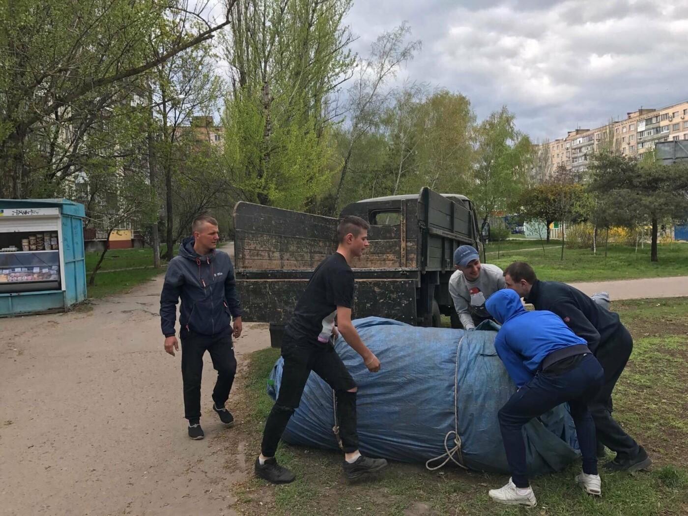 В Николаеве демонтировали и изъяли незаконный надувной батут, - ФОТО, фото-3
