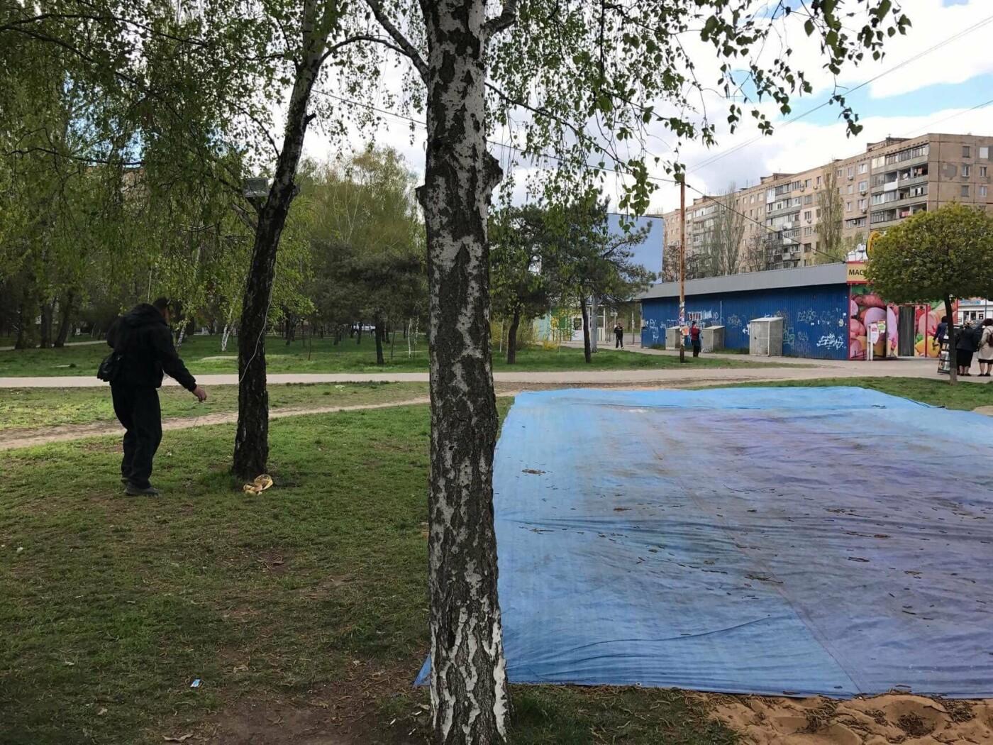 В Николаеве демонтировали и изъяли незаконный надувной батут, - ФОТО, фото-2