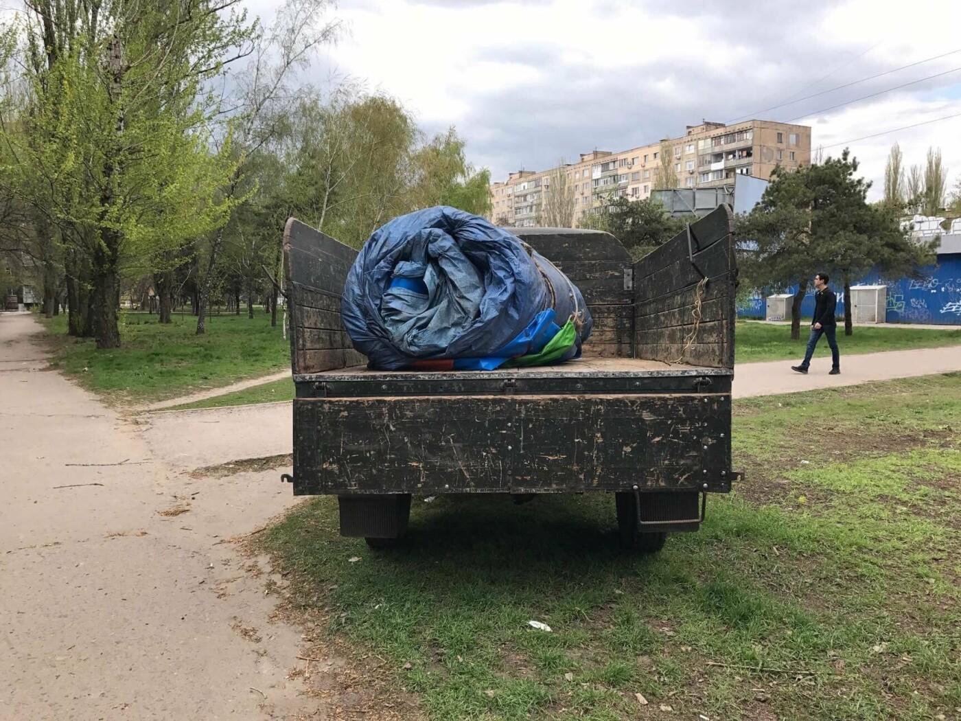В Николаеве демонтировали и изъяли незаконный надувной батут, - ФОТО, фото-4
