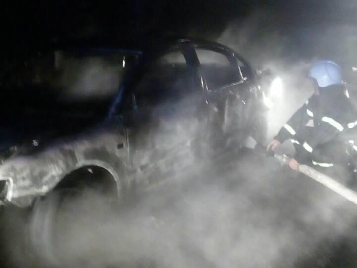 Ночью на Николаевщине горел автомобиль, - ФОТО, фото-2