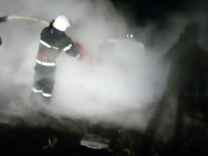 Ночью на Николаевщине горел автомобиль, - ФОТО, фото-1
