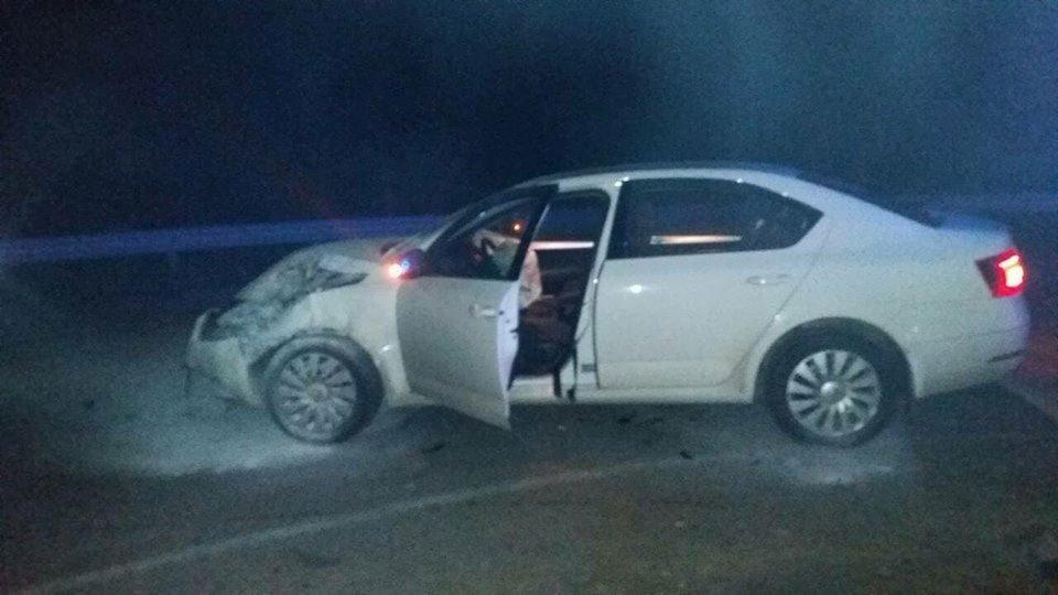 Под Николаевом после лобового столкновения горел автомобиль, - ФОТО, фото-1
