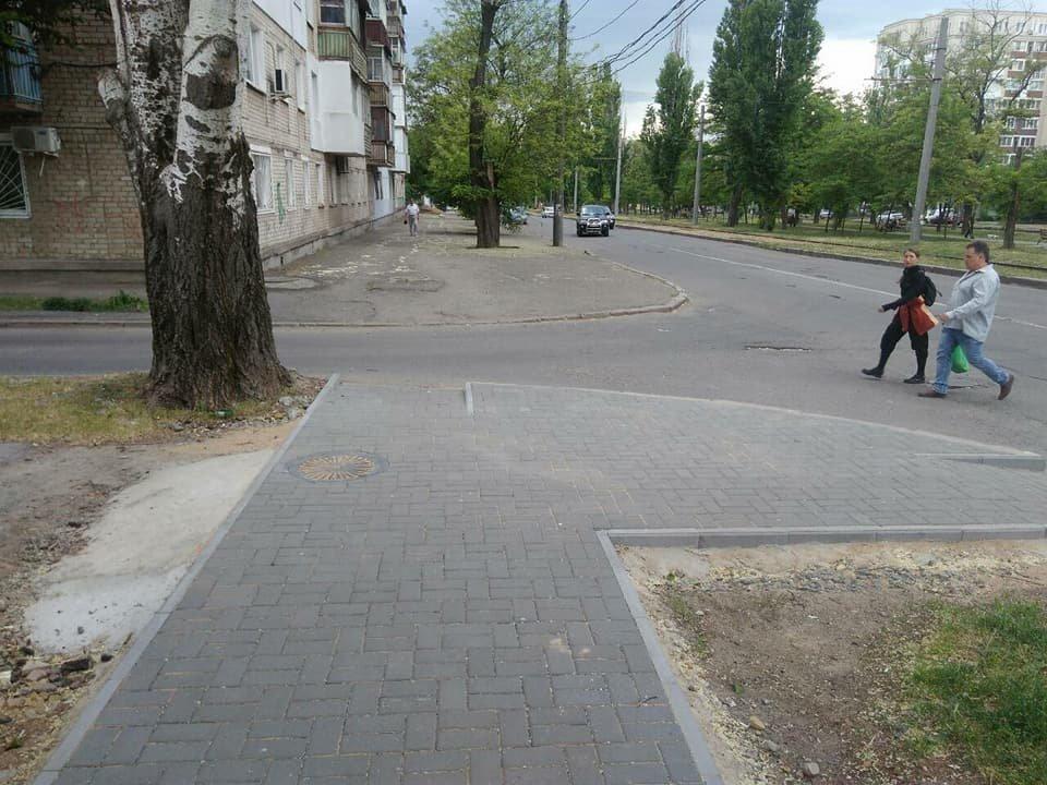 В Николаеве на улице Чкалова отремонтировали тротуар, - ФОТО, фото-1