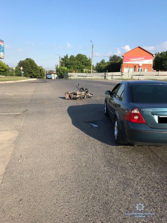 В Николаевской области столкнулись иномарка и мотоцикл: мотоциклист госпитализирован, - ФОТО, фото-1