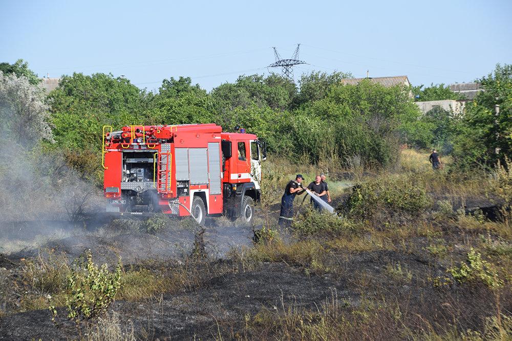 На территории Николаевщины спасатели продолжают тушить пожары сухостоя, - ФОТО, фото-7