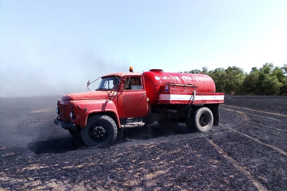 На территории Николаевщины спасатели продолжают тушить пожары сухостоя, - ФОТО, фото-2