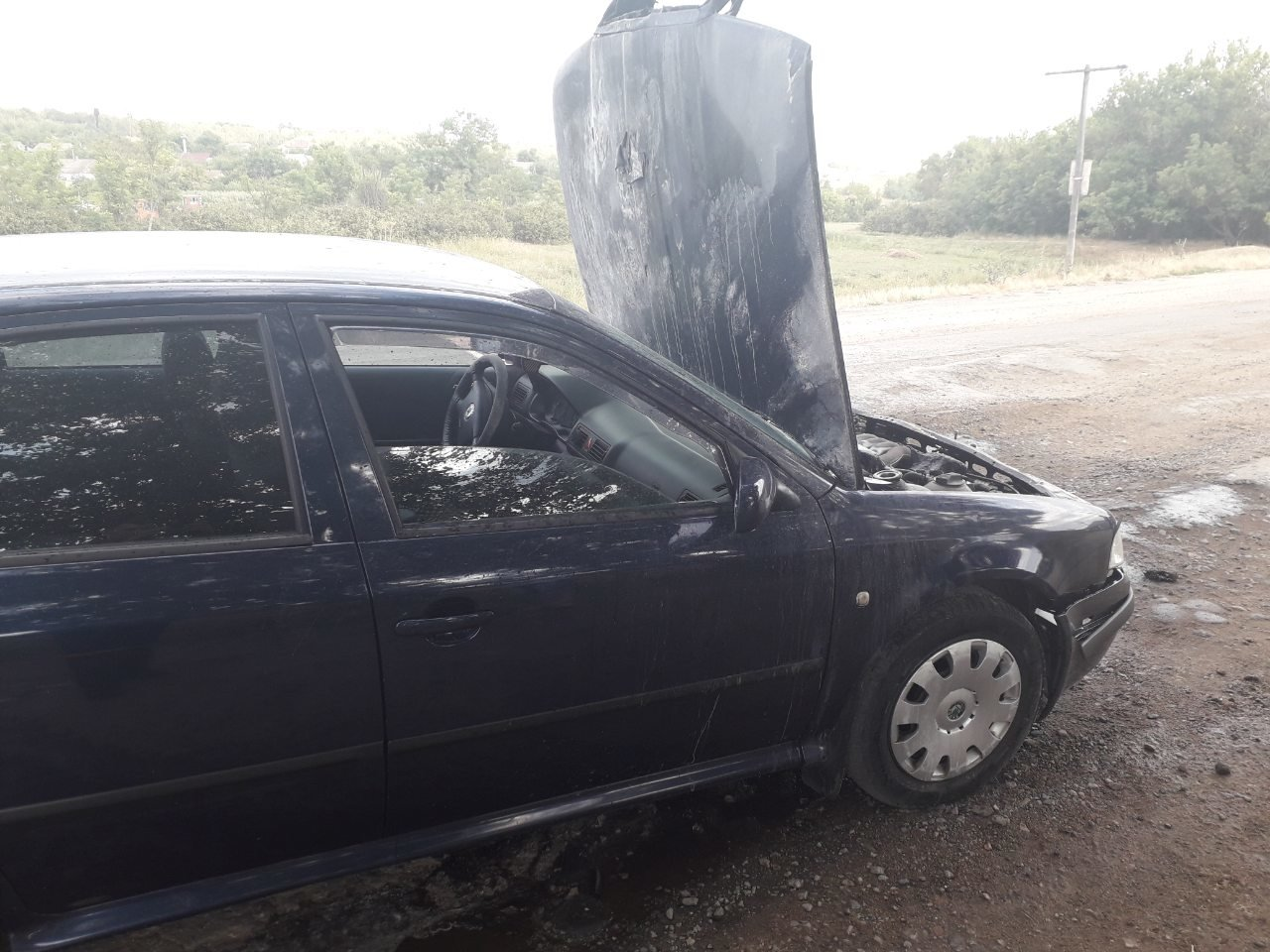 На Николаевщине спасатели потушили пожар автомобиля, - ФОТО, фото-3