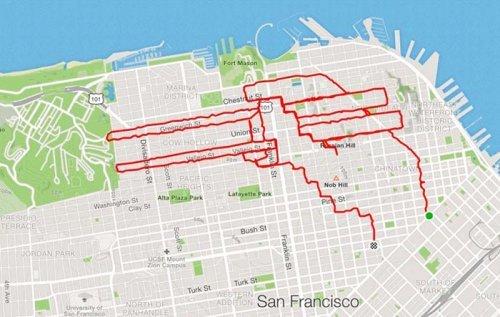 Американский спортсмен создает картины пробежками, - ФОТО, фото-3