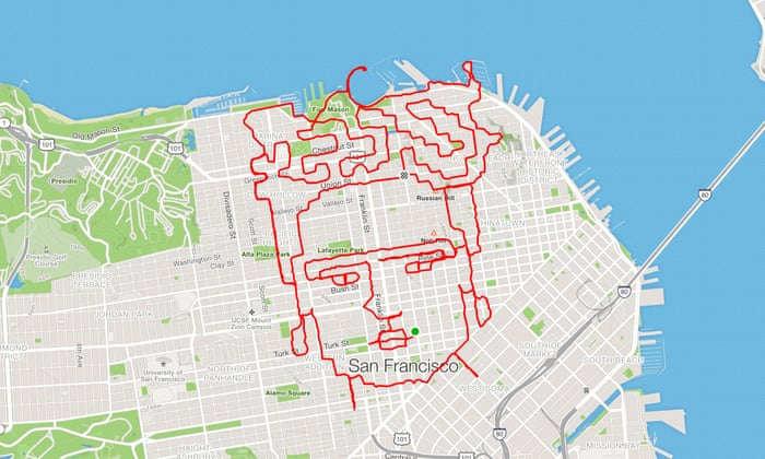 Американский спортсмен создает картины пробежками, - ФОТО, фото-1