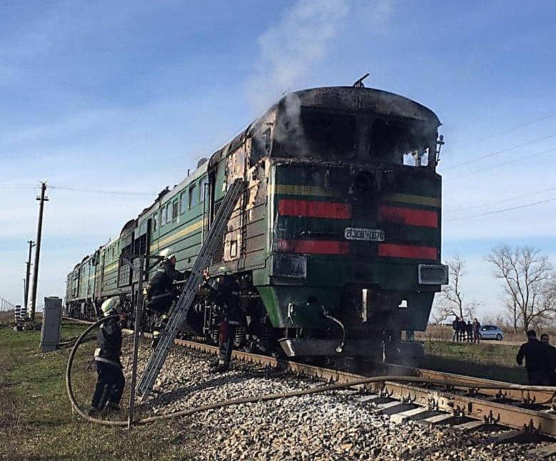 На Николаевщине на ходу загорелся вагон тепловоза, - ФОТО, ВИДЕО, фото-4
