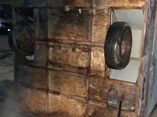 В Николаеве из-за мусора загорелся киоск, - ФОТО, фото-1