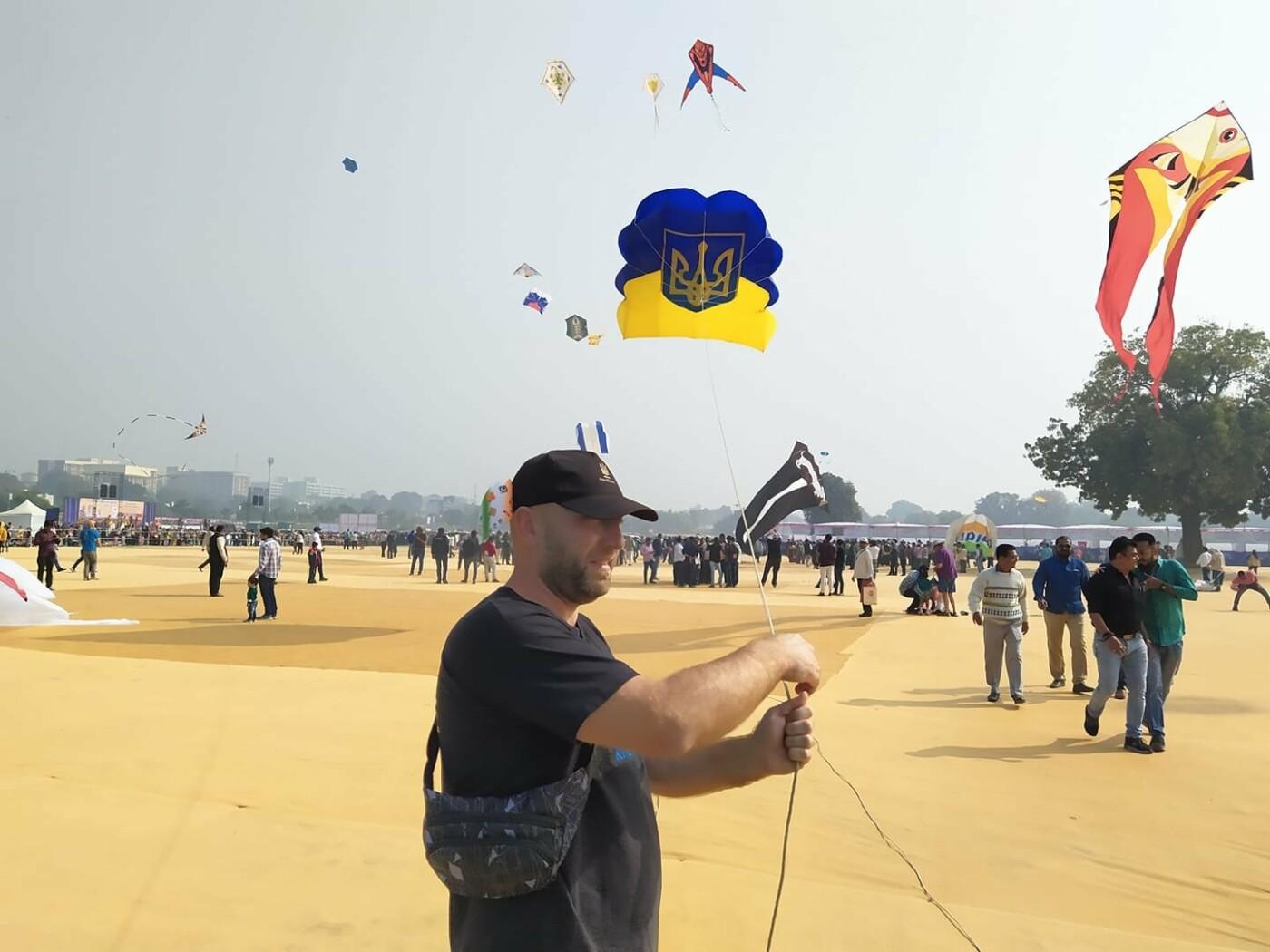 Николаевские кайтеры запустили своих змеев на фестивале в Индии, - ФОТО, фото-5